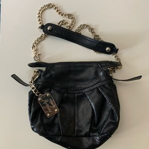 Guess by Marciano black leather shoulder handbag